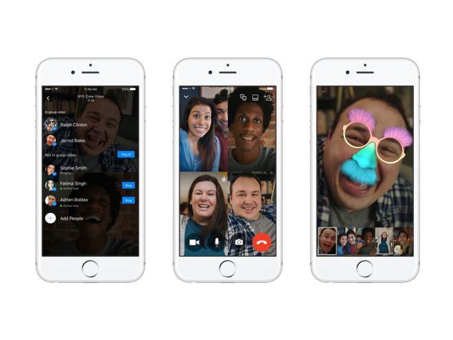 Facebook actualiza el lunes el IOS, Android y versiones web de Messenger con video chats en grupo