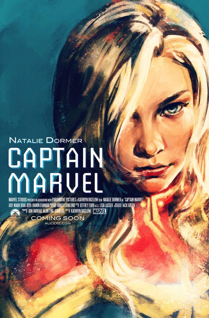 Captain Marvel / Natalie Dormer. Dang straight she's Captain Marvel. Please, Marvel.