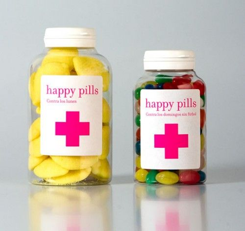 happy pills - candy packaging