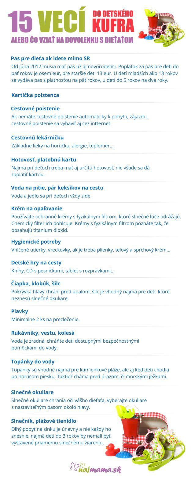 Čo zbaliť na dovolenku s deťmi   Najmama.sk