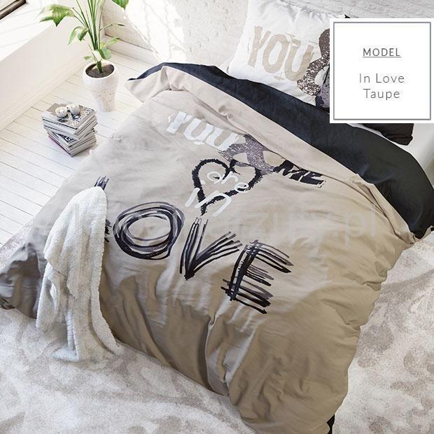 YOU&ME IN LOVE pościel w kolorze beżowym holenderska