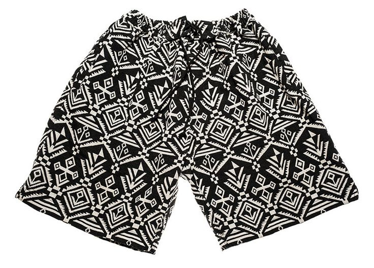 Surfer / bohemian shorts for Men in black and white inca / graphic colors by Aviimade on Etsy
