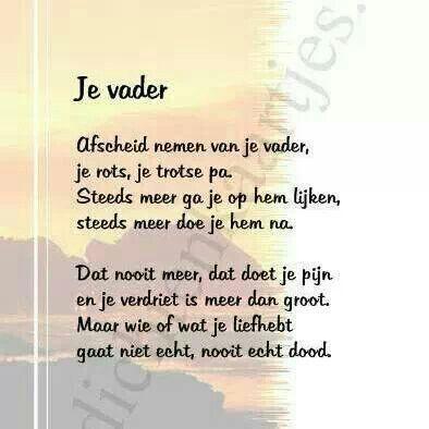 gedicht over overleden vader