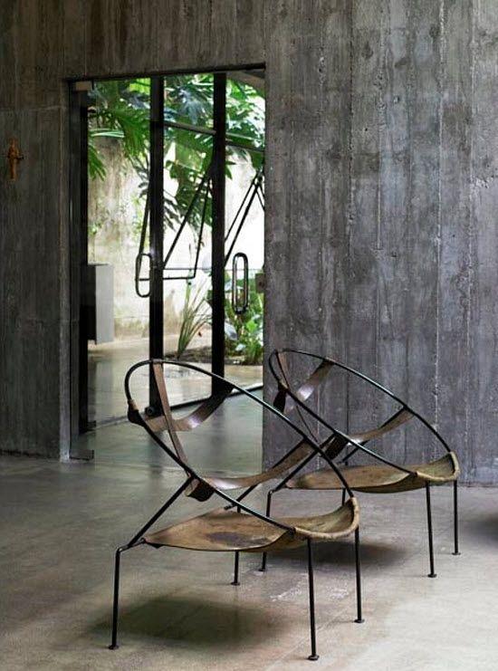 Chairs, seating, Leme House/São Paolo #home #furniture