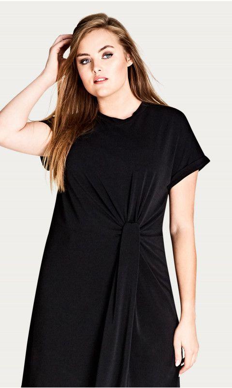 4ce8e103573 Shop Women s Plus Size Knot Front Tunic - New