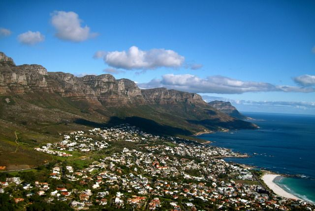 This is the view that you'll be treated to while climbing to the summit of Lion's Head in Cape Town, South Africa.
