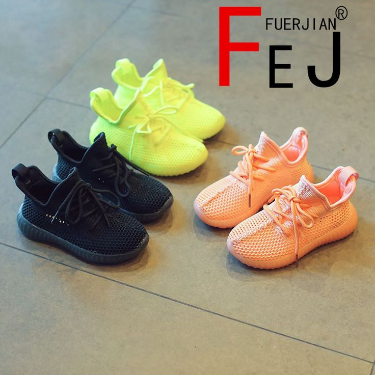 ==> [Free Shipping] Buy Best Kids Shoes 2017 FUERJIAN Summer Fashion Knitted Mesh Boys Girls Shoes Sneakers Breathable Casual Children Coconut Shoes Online with LOWEST Price | 32806090984