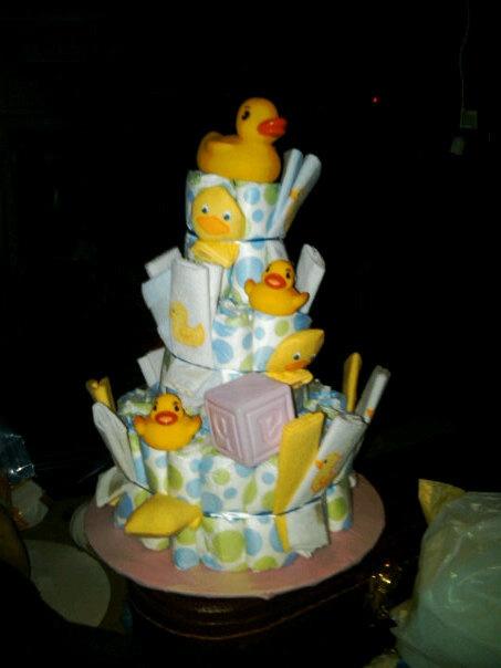 Melanie Siganos Diaper Cake For Duck Theme Baby Shower