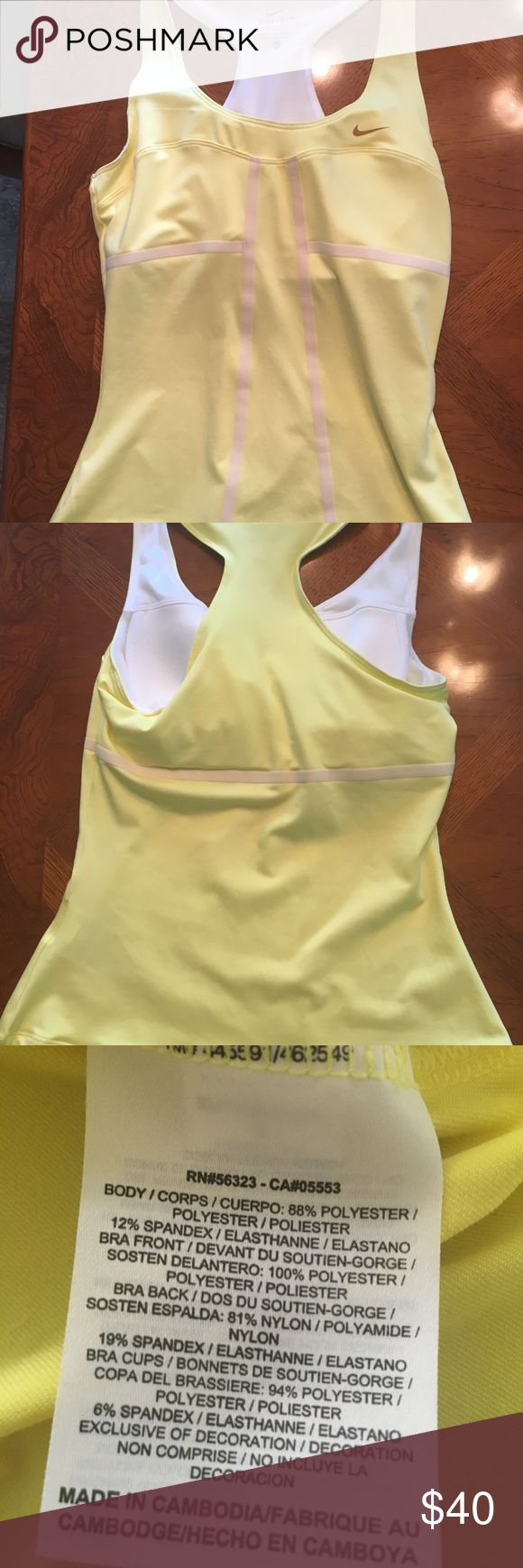 Nike drift tennis tank, size s Womens Nike Sharapova tennis tank.  Size is a Small.  Only wore 2X.  In great condition. Dri-ft material.   From a smoke free home. Nike Tops Tank Tops