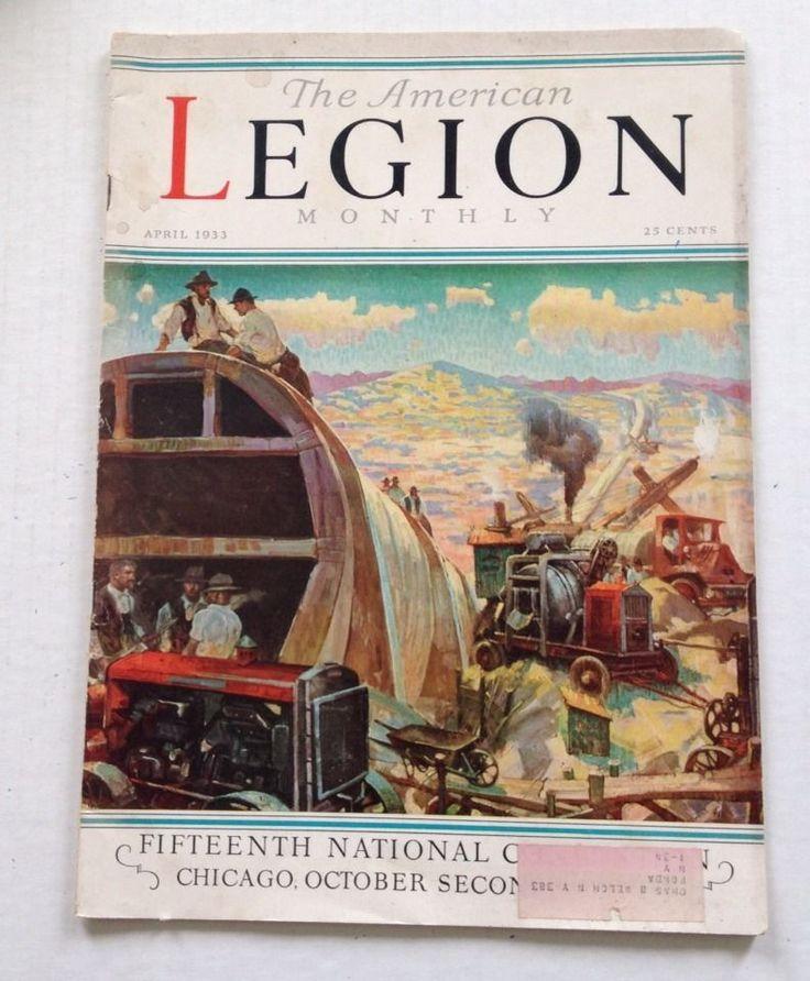American Legion Monthly Magazine April 1933 TB Chicago Convention Texas Aviators