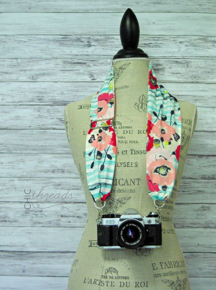 DSLR Camera Strap- Scarf Camera Strap- Camera Strap- Photographer Gift- Floral Scarf Camera Strap- Fabric Camera Strap- Nikon Camera Strap by ChicThreadsbyAmy on Etsy https://www.etsy.com/listing/238975637/dslr-camera-strap-scarf-camera-strap