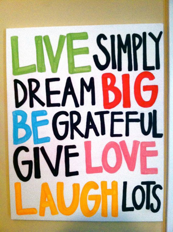 Live Simply Quote Canvas by PeaceAndPainting on Etsy, $30.00
