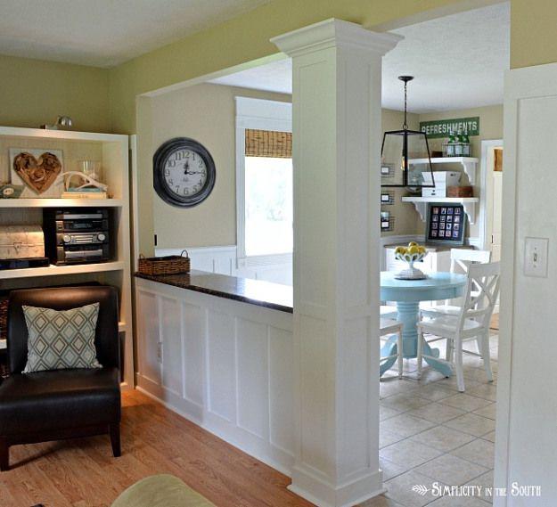 17 best ideas about short bar stools on pinterest short for Living room dining room divider ideas