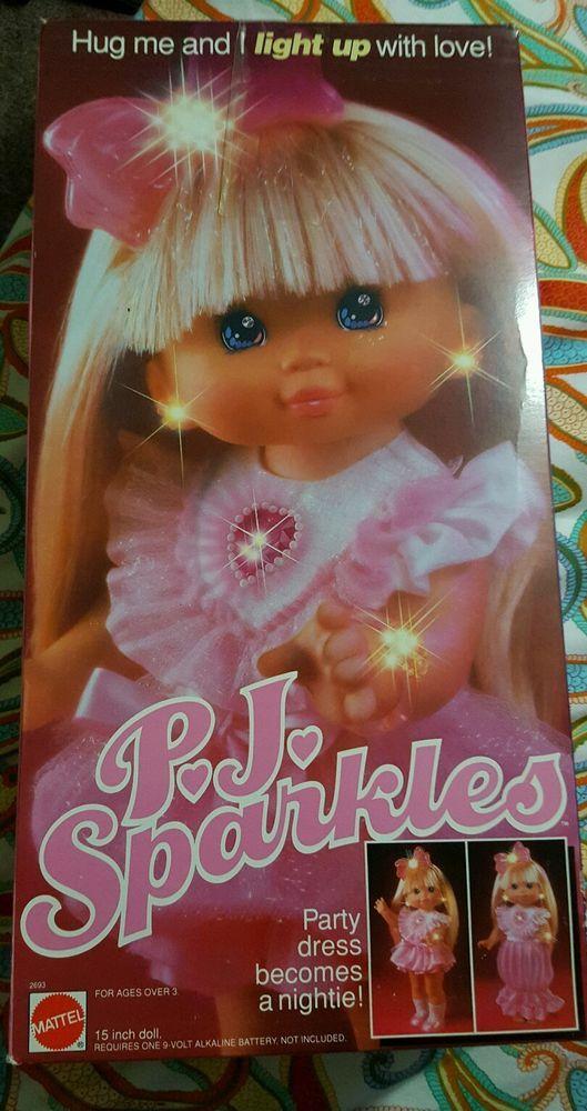 Vintage 1989 Mattel Pj Sparkles Doll My Favorite