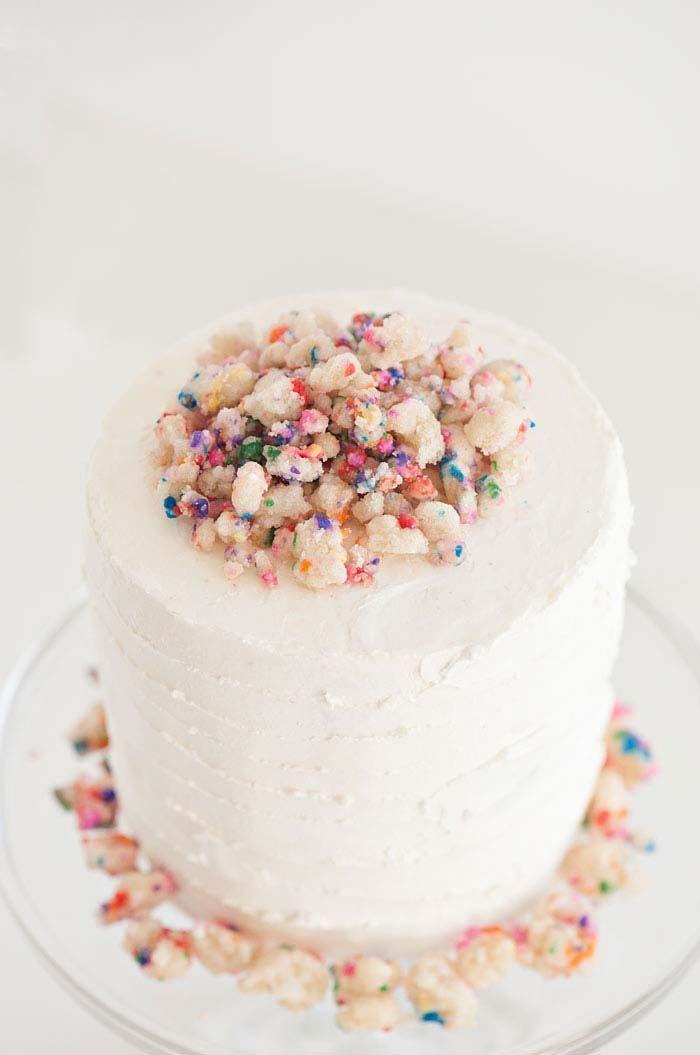 Birthday Crumble Cake