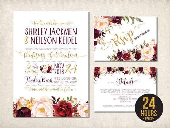 Best Wedding Invitations Suite Images On   Bridal