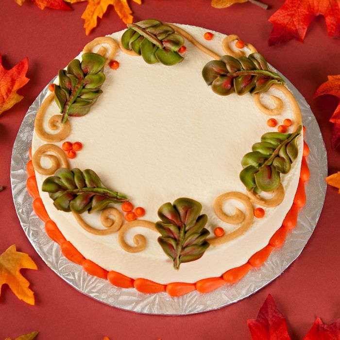 Autumn Scrolls Thanksgiving Ideasthanksgiving Cakesfall