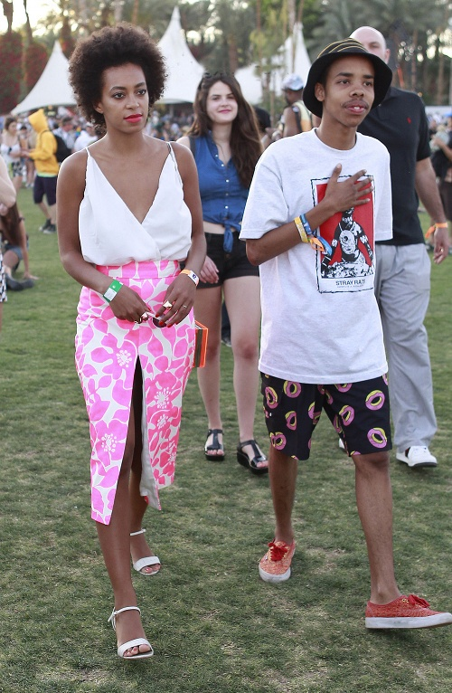 Solange Knowles and Earl Sweatshirt at Coachella.  Cancer and Pisces vibe well naturally.