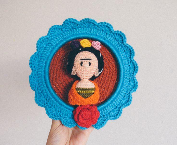 Amigurumi Frida Kahlo : Frida kahlo amigurumi pattern by selene l albero di lit