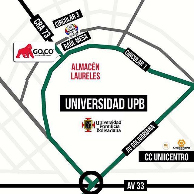 Ven a #GoCo Laureles. Estamos en la Avenida Jardín, Cra 73 # Circular 1-15. Te esperamos de lunes a sábados desde las 10am hasta las 6:30pm #LaMarcaDelGorila. Compra en línea en www.gococlothing.com y recibe tu pedido en cualquier parte de Colombia!