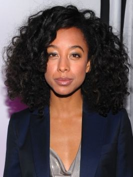 Corinne Bailey Rae Big Curly Hairstyle  Chunky twist out