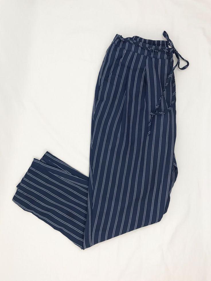 Woven Stripe Pant