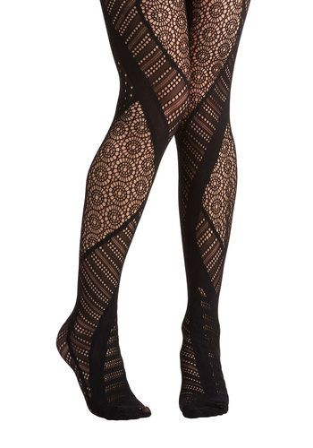 Prominent in Patterns Tights. With tights as unique as this multi-patterned pair, you cant help but want to show them off! #blackNaN