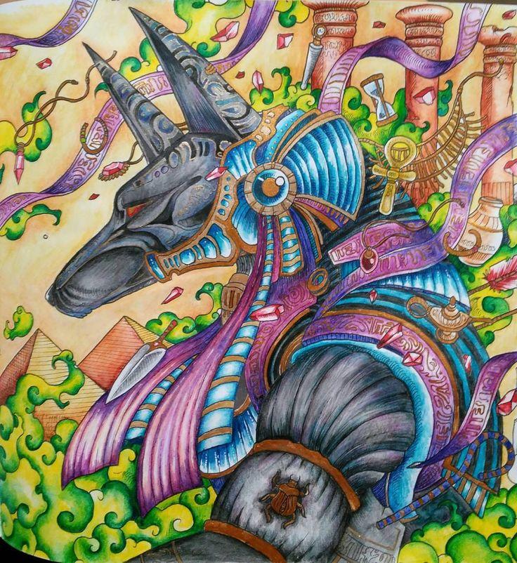 My anubis from mythomorphia by kerbyrosanes Coloring
