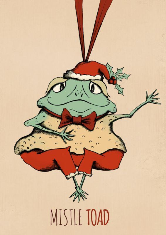 Mistle Toad: kerstillustratie