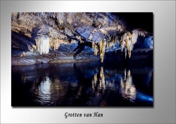Grotten van Han in Belgie