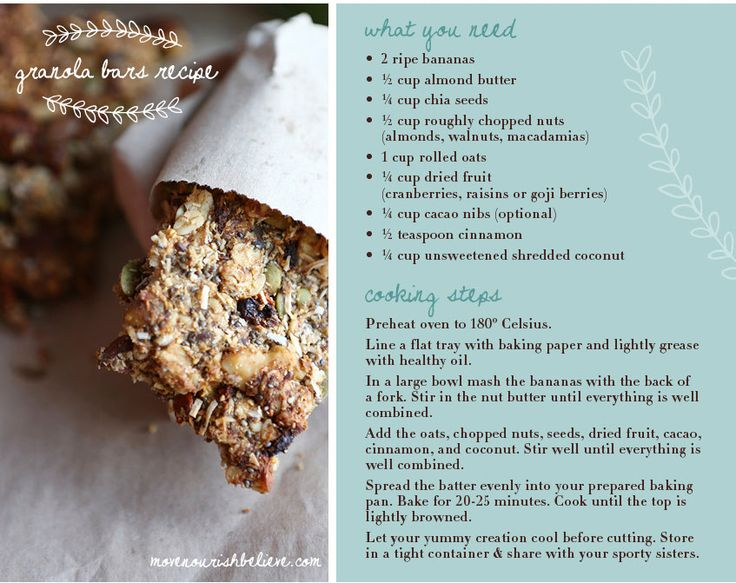 Recipe Of The Week: Granola Bars | Move Nourish Believe