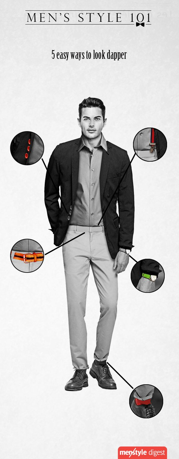 How you can look dapper with just small details