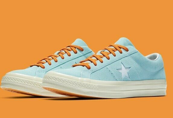 Blue and orange One Star Tyler Converse