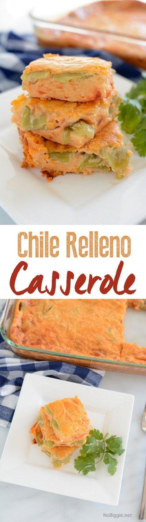 chile relleno casserole | recipe on http://NoBiggie.net