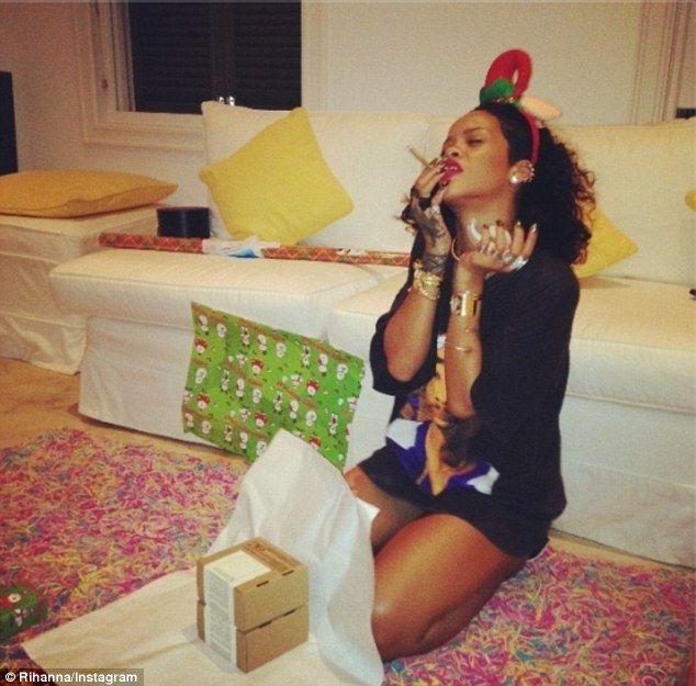 Rihanna smokes a blunt as she lip syncs to Mariah Carey | Rihanna ...