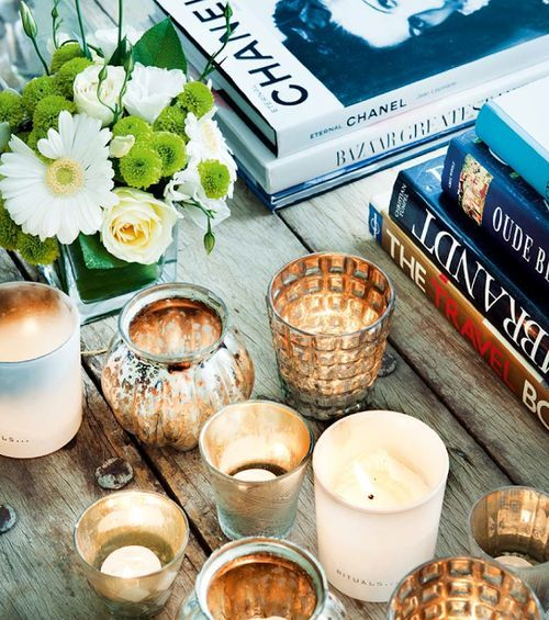 Candles, flowers and Chanel