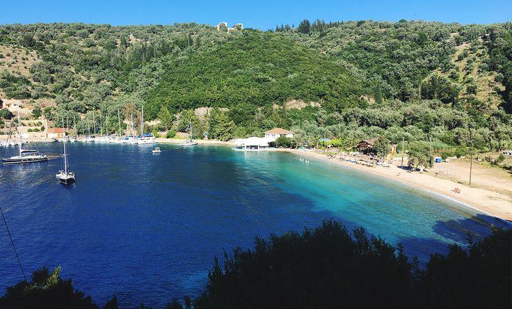 Beautiful beach in Spartochori, Meganisi Island