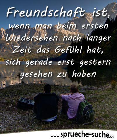 Freundschaft ist, wenn man beim ersten Wiedersehen nach