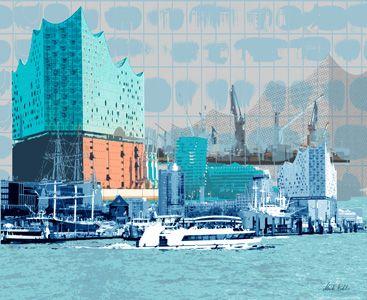 Hamburg Elbphilharmonie Kunstmalerei Kunst Siebdruck