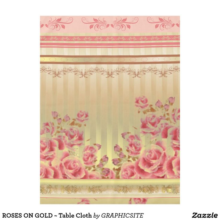 ROSES ON GOLD ~ Table Cloth