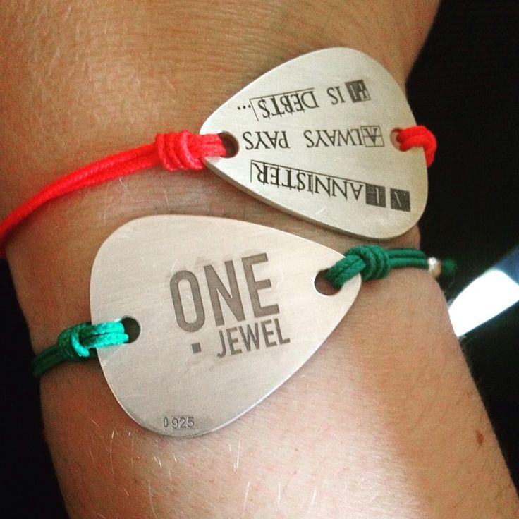 Pulseras de Púa de Plata 1,2mm de grosor con grabación personalizada #onejewelbcn #JewelsByAnnmer  onejewelbcn@gmail.com
