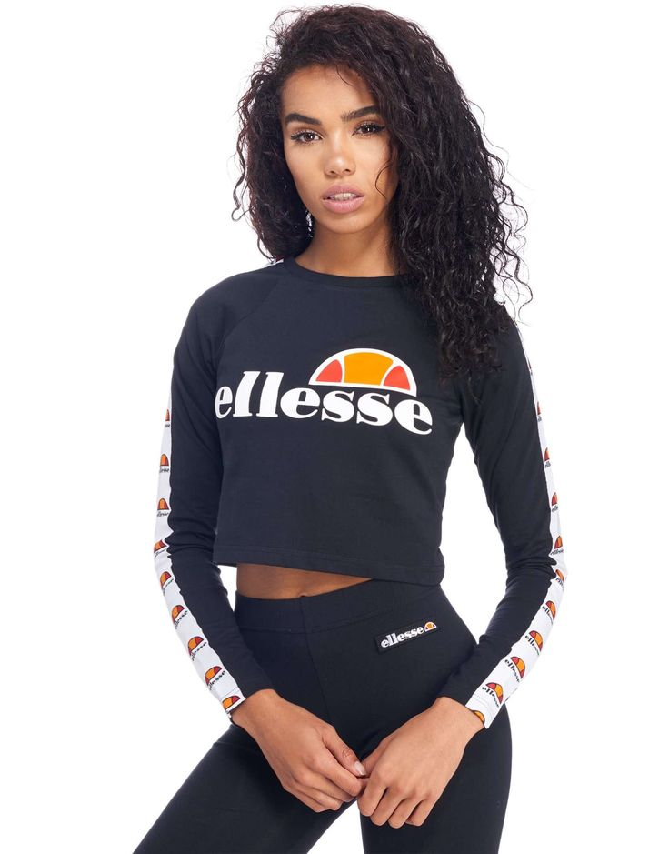 Ellesse Longsleeve Crop T-Shirt - Shop online for Ellesse Longsleeve Crop T-Shirt with JD Sports, the UK's leading sports fashion retailer.