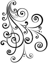 Victorian flourish for when one is needed in quilling or other paper craft project