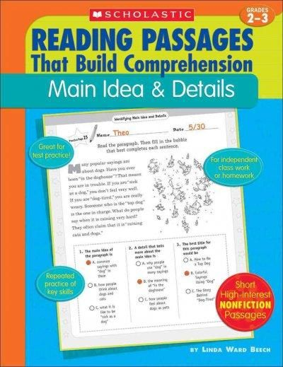 Give students the repeated practice they need to master the reading skill of identifying the main idea and supporting details, and succeed on tests! Each of the 35 reproducible pages features a high-i