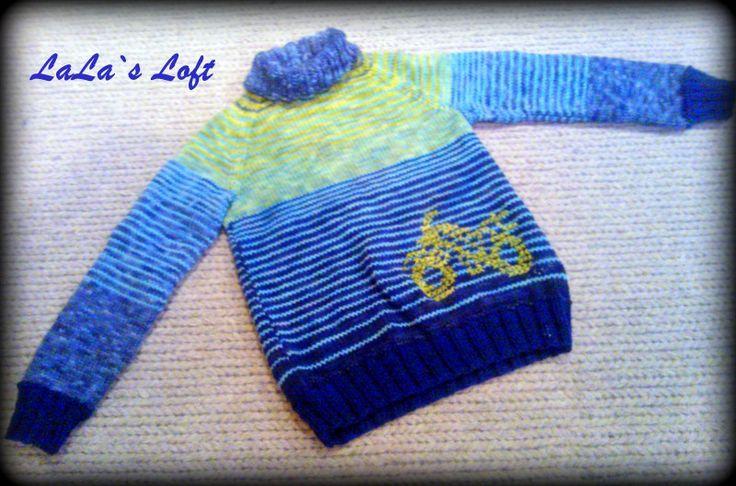 Motorbicke for a cool guy :) #boysknit #boy #knit #pullover