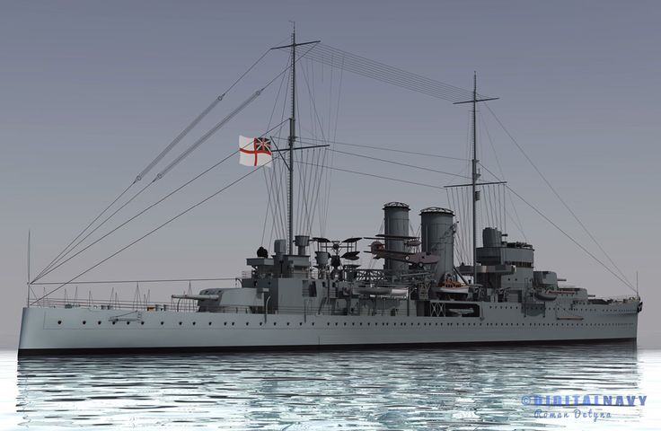 HMS Exeter (68) the second and last York-class heavy cruiser of the British Royal Navy in 3D. (google.image) 10.17