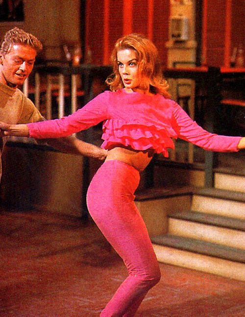 """Ann Margret in """"Bye, Bye Birdie"""" ever since I was a little girl, I wanted this hot pink outfit! So cute."""