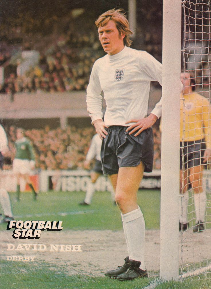 15th May 1974. Derby County full back David Nish during an Home International match against Northern Ireland.