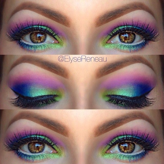 Urban Decay Electric peacock using UD palette - elyse renau [click for youtube tut]