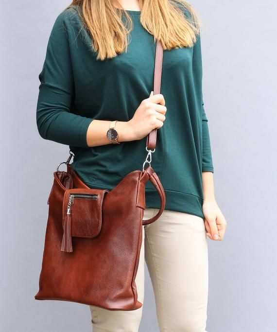 2349588c02 BROWN Leather CROSSBODY BAG